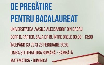 """Universitatea ,,Vasile Alecsandri"""" organizează cursuri gratuite de pregătire pentru BAC"""