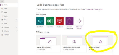 Configure Portal for Common Data Service