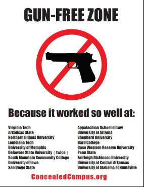 Gun Free Zone. Because it worked so well at...