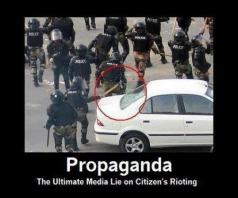 Propoganda - the ultimate media lie on citizen's rioting