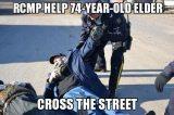 RCMP help 74 year old elder cross the street