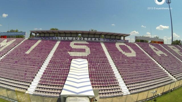 Stadionul Dan Păltinișanu. Sursă foto: Eye in the sky