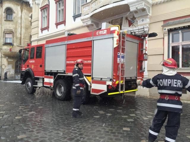 pompieri in piata unirii6