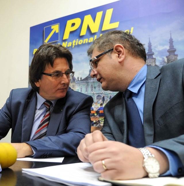 Nicolae Robu presedinte PNL Timis, Dan Diaconu presedinte PNL Timisoara