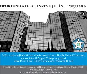 MRL Spatii de birouri in Timisoara