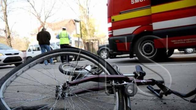 Biciclist rănit grav în Voiteg