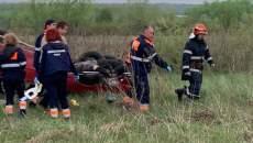 Tânăr, răsturnat cu mașina între Dumbrăvița și Giarmata Vii