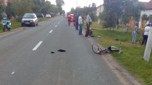 Biciclist decedat, după ce a fost lovit de o motocicletă. Sursă foto: arhivă.