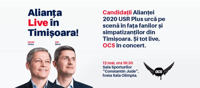 Dan Barna şi Dacian Cioloş se întorc duminică la Timişoara