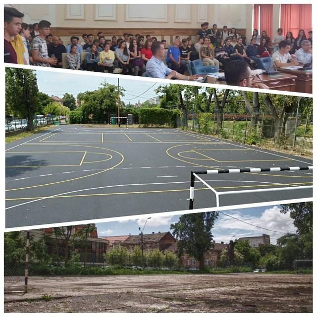 Terenul de sport al Liceului Baptist Timişoara a fost reabilitat în timp record
