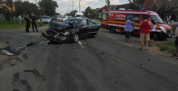 Accident rutier în localitatea Semlac, județul Arad