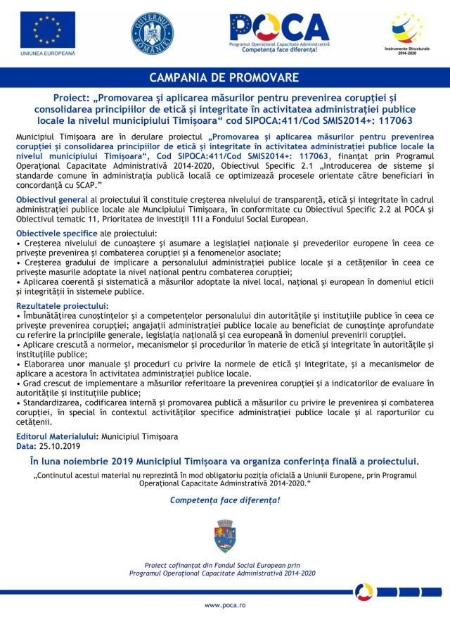 Campania de promovare STOP CORUPTIA-25