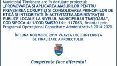 Promovarea şi aplicarea măsurilor pentru prevenirea corupției și consolidarea principiilor de etică și integritate în activitatea administrației publice locale la nivelul municipiului Timișoara