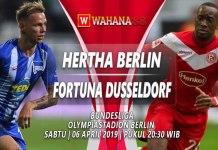 Prediksi Hertha Berlin vs Fortuna Dusseldorf 06 April 2019