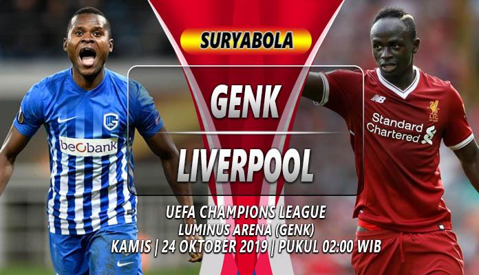 Prediksi Genk vs Liverpool 24 Oktober 2019