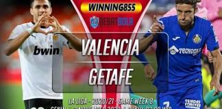 Prediksi Valencia vs Getafe 2 November 2020
