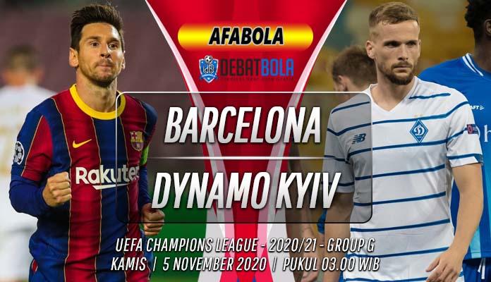 Prediksi Barcelona vs Dynamo Kyiv 5 November 2020