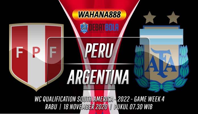 Prediksi Peru vs Argentina 18 November 2020