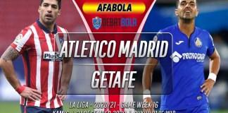 Prediksi Atletico Madrid vs Getafe 31 Desember 2020