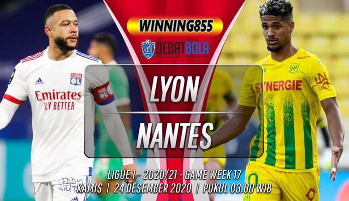 Prediksi Lyon vs Nantes 24 Desember 2020