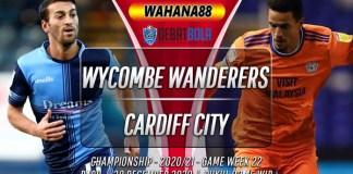 Prediksi Wycombe Wanderers vs Cardiff City 30 Desember 2020
