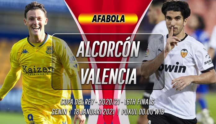 Prediksi Alcorcón vs Valencia 18 Januari 2021