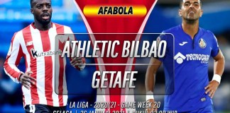 Prediksi Athletic Bilbao vs Getafe 26 Januari 2021