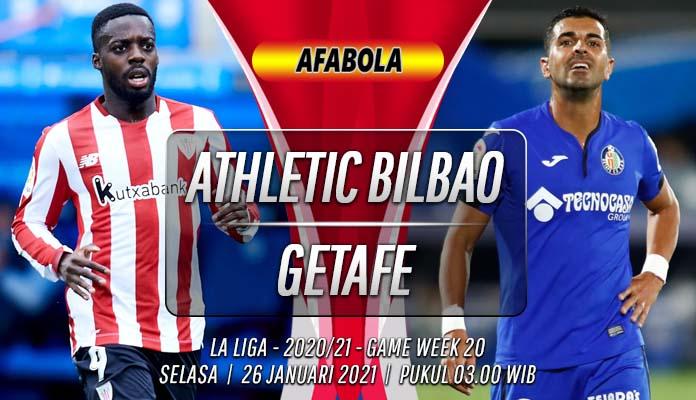 Prediksi Athletic Bilbao vs Getafe 26 Januari 2021