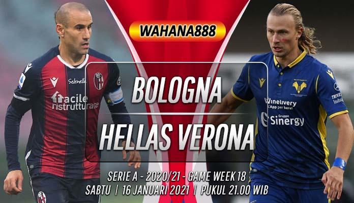 Prediksi Bologna vs Hellas Verona 16 Januari 2021