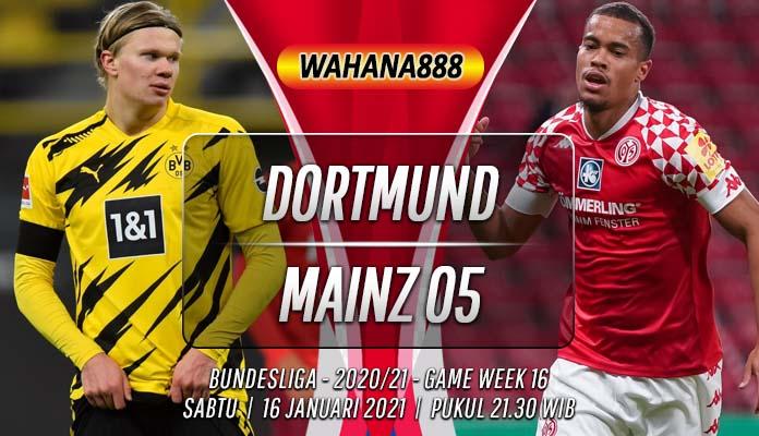 Prediksi Borussia Dortmund vs Mainz 05 16 Januari 2021