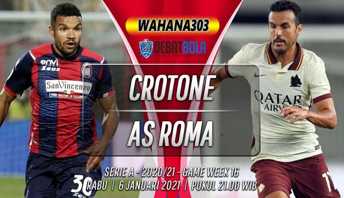 Prediksi Crotone vs AS Roma 6 Januari 2021