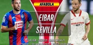 Prediksi Eibar vs Sevilla 30 Januari 2021