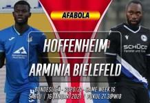 Prediksi Hoffenheim vs Arminia Bielefeld 16 Januari 2021