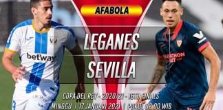 Prediksi Leganes vs Sevilla 17 Januari 2021