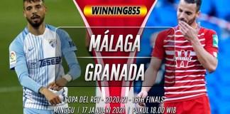 Prediksi Málaga vs Granada 17 Januari 2021