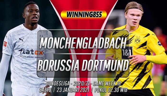 Prediksi Monchengladbach vs Borussia Dortmund 23 Januari 2021