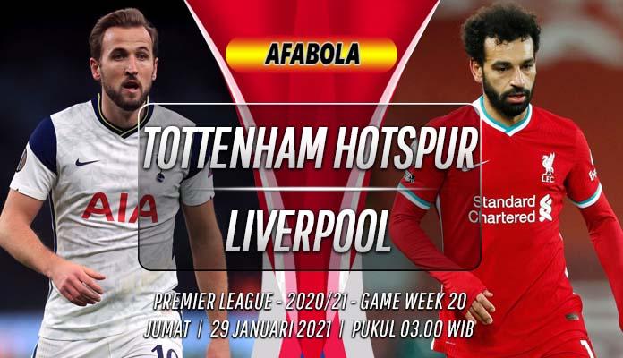 Prediksi Tottenham Hotspur vs Liverpool 29 Januari 2021