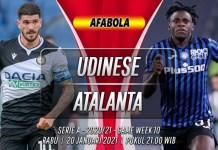 Prediksi Udinese vs Atalanta 20 Januari 2021