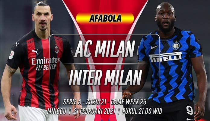 Prediksi AC Milan vs Inter Milan 21 Februari 2021
