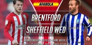 Prediksi Brentford vs Sheffield Wednesday 25 Februari 2021