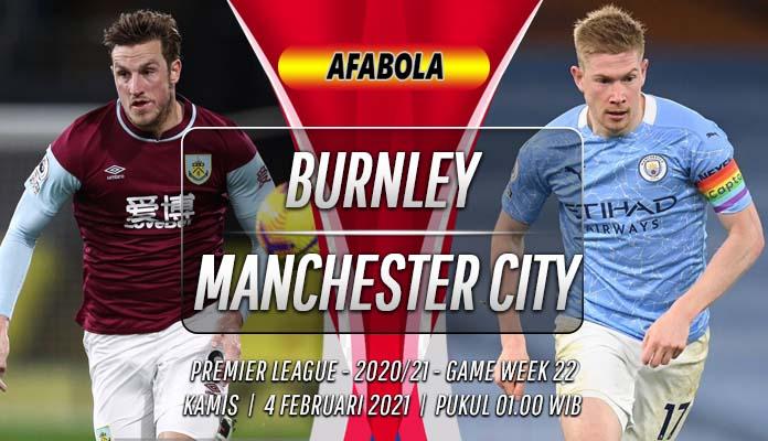 Prediksi Burnley vs Manchester City 4 Februari 2021