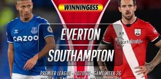 Prediksi Everton vs Southampton 2 Maret 2021