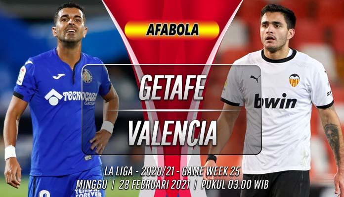 Prediksi Getafe vs Valencia 28 Februari 2021