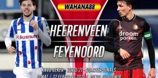 Prediksi Heerenveen vs Feyenoord 12 Februari 2021