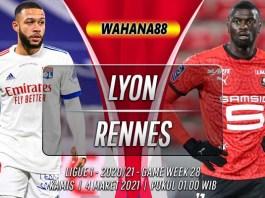 Prediksi Lyon vs Rennes 4 Maret 2021