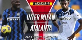 Prediksi Inter Milan vs Atalanta 9 Maret 2021