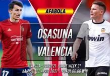 Prediksi Osasuna vs Valencia 22 April 2021