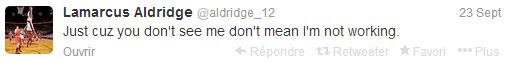 Aldridge Quote