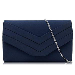 Bolso azul tipo sobre
