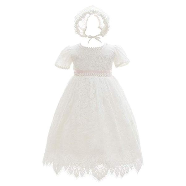 Vestido de bautizo encajes para niñas